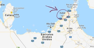 Dubái geográficamente
