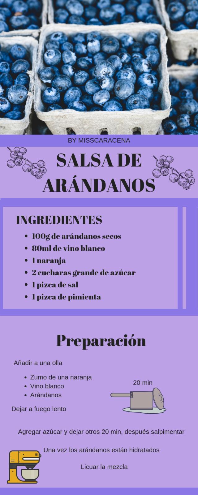 SALSA DE ARANDANOS