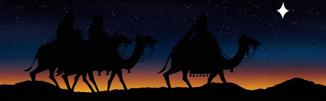 reyes magos con camello