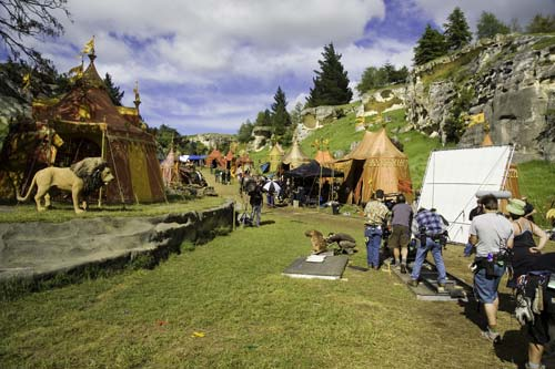 Narnia. Nueva Zelanda. Elephant Rocks. Aslan. Localización. Escena. Pelicula. Campamento de Aslan.